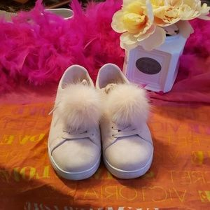 Madden Girl Pom Pom Sneakers